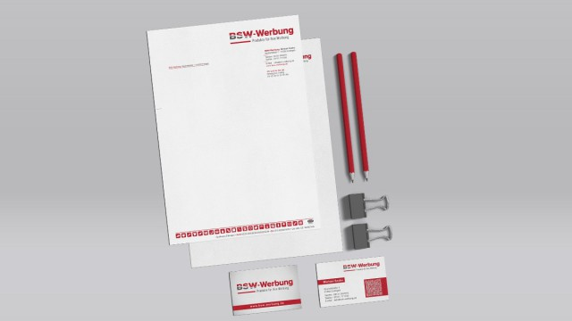 BSW-Werbung Michael Szabo - Corporate Design Logo, Briefpapier, Visitenkarte