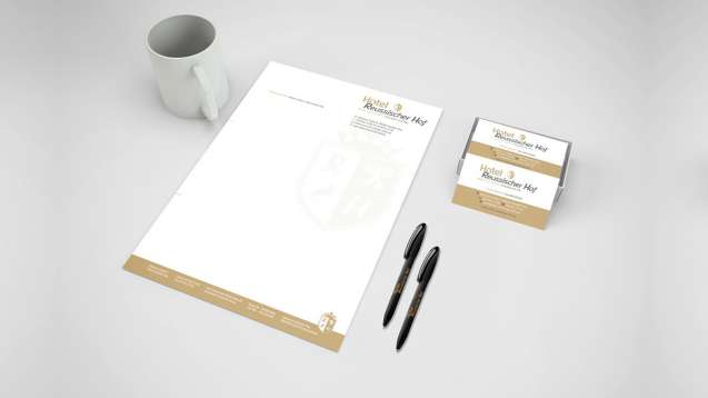 Hotel Reussischer Hof - Corporate Design Logo, Briefpapier, Visitenkarte